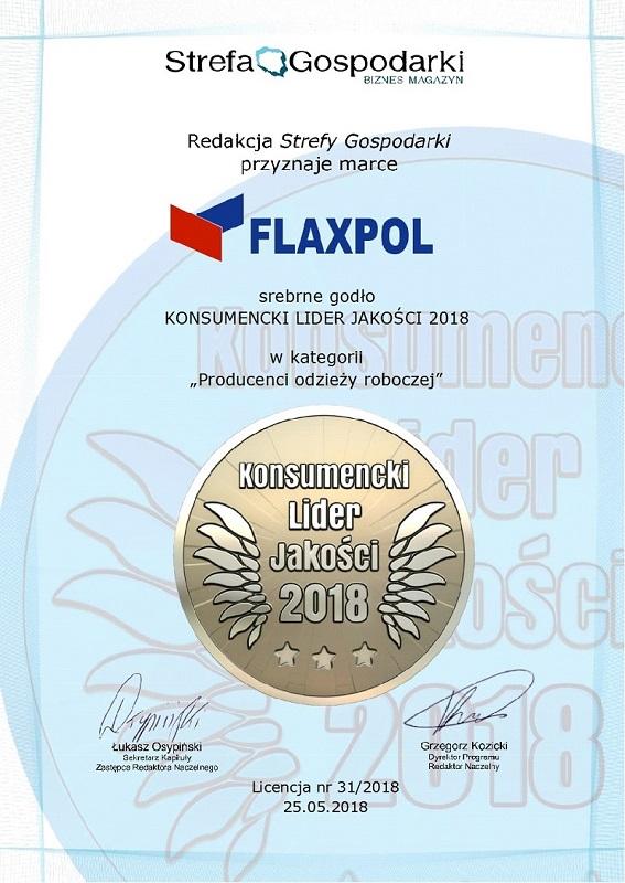konsumencki lider jakości Flaxpol 2018